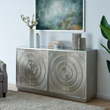 Load image into Gallery viewer, Frenso 4 Door Sideboard- Silver