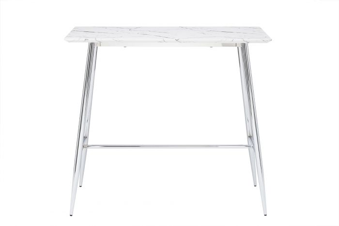 Doyen Breakfast Bar High Table - Chrome