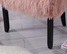 Load image into Gallery viewer, Faux Sheepskin Tub Chair - Pink