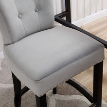 Load image into Gallery viewer, Knocker Back Barstool-Grey Velvet