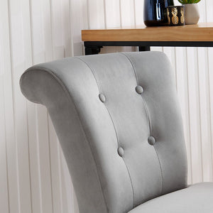 Knocker Back Barstool-Grey Velvet