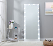 Load image into Gallery viewer, Hollywood Floor Mirror - White