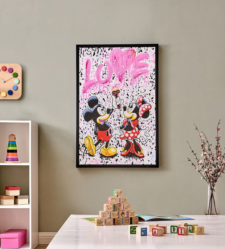 Mickey & Minnie Mouse-Love Wall Art
