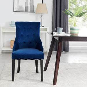 Lion Knocker Dining Chair-Royal Blue Velvet