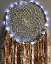 Load image into Gallery viewer, Light up Neutral Coloured Dreamcatcher