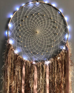 Light up Neutral Coloured Dreamcatcher