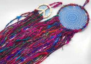Sari Silk Yarn Dream Catcher