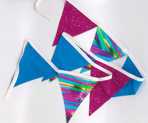 Girls colorful bunting