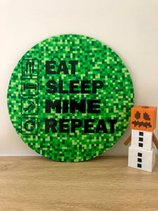 Eat Sleep Mine Repeat Wall Plaque