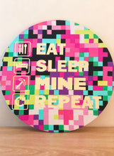 Load image into Gallery viewer, Eat Sleep Mine Repeat Wall Plaque Multicolour
