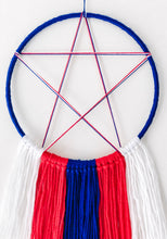 Load image into Gallery viewer, Superhero Captain America inspired boys Dreamcatcher