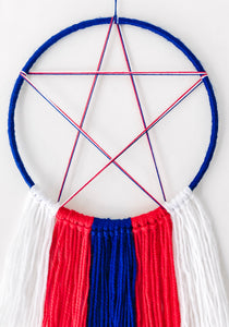 Superhero Captain America inspired boys Dreamcatcher