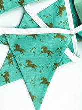 Load image into Gallery viewer, Unicorn Mint and Gold Bunting