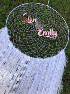 Personalised white Dreamcatcher
