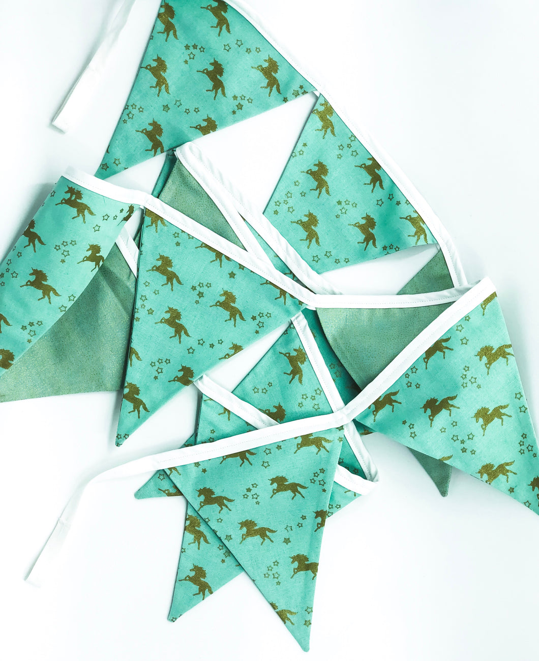 Unicorn Mint and Gold Bunting