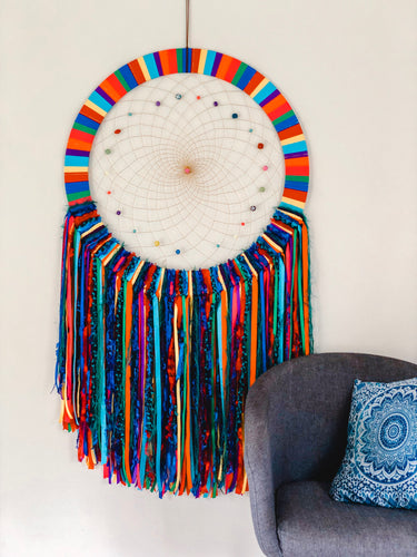 Giant Rainbow Dreamcatcher