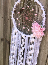 Load image into Gallery viewer, White and pink Dreamcatcher