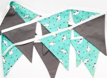 Load image into Gallery viewer, Unicorn Mint and Grey Bunting