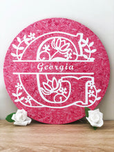Load image into Gallery viewer, Personalised Pink Wall Plaque