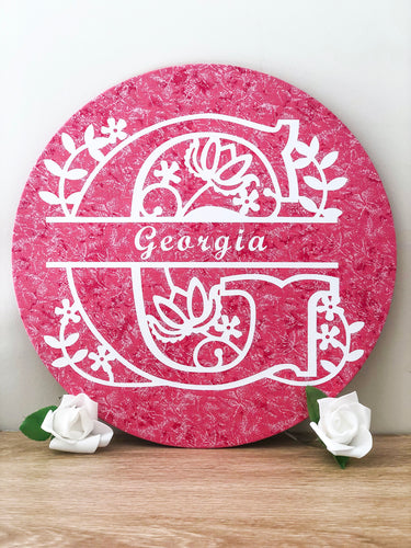 Personalised Pink Wall Plaque