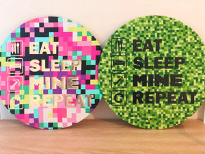 Eat Sleep Mine Repeat Wall Plaque Multicolour
