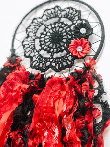 Black and Red Dreamcatcher