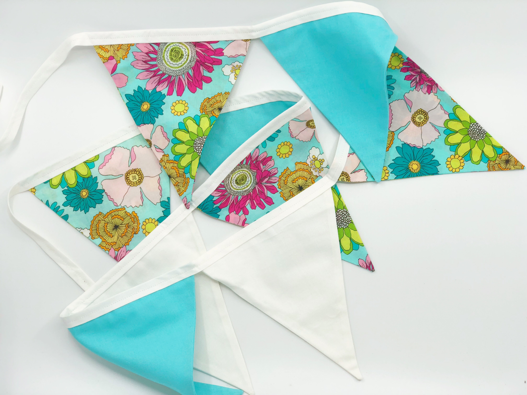 Handmade floral Bunting
