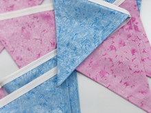 Load image into Gallery viewer, Pink and Blue Bunting