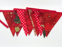 Load image into Gallery viewer, Handmade Christmas Bunting style 2