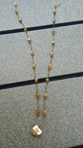 Crystal Square Necklace