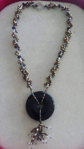 Onyx beaded necklace