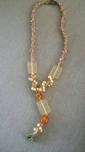 Yellow and Amber necklace