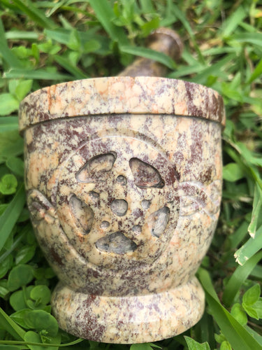 Mortar and Pestle with Pentagram