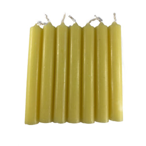 "Yellow Spell Candles 4""- Set of 7"