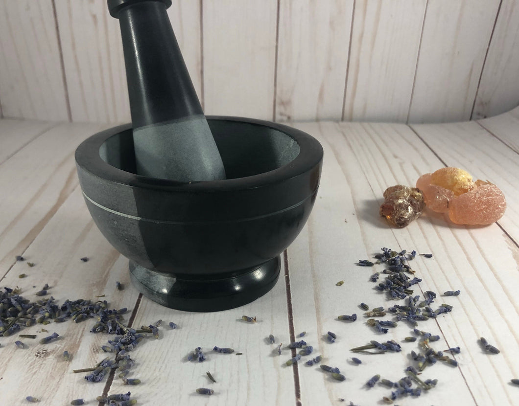 Two Tone Dark and Gray Mortar and Pestle- 2.5