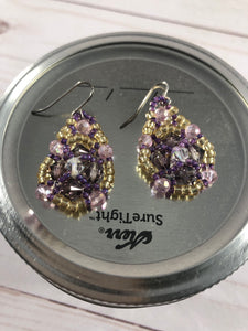 Purple Crystal Earring
