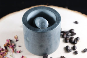 Gray Stone Mortar and Pestle