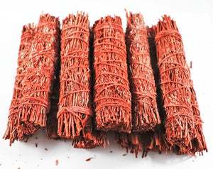 Bulk 50 Dragons Blood Sage Smudge Sticks