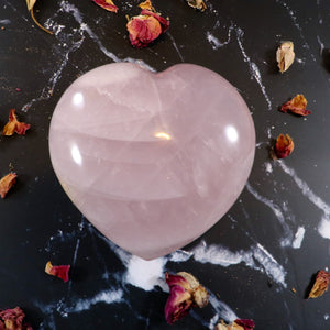 Rose Quartz Heart 80mm/Large Rose Quartz Heart/ Love Gift/ Love