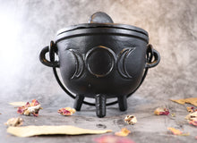Triple Moon Cauldron 4.5 inches D x 4.25 inches H
