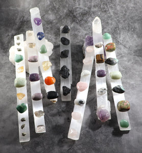 Selenite Wands charged for different intentions
