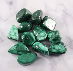 Malachite Tumbled Stones 1.5""