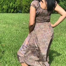 Bohemian Mid-length dress with Paisley Designs- One size