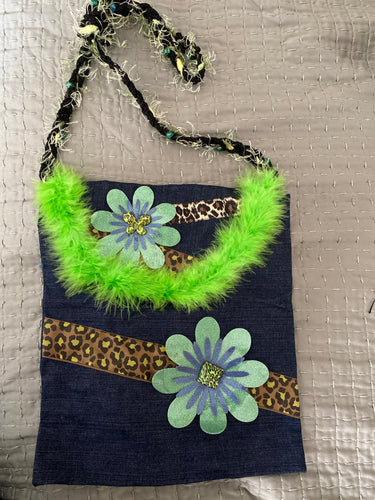 Handmade hippie shoulder bag