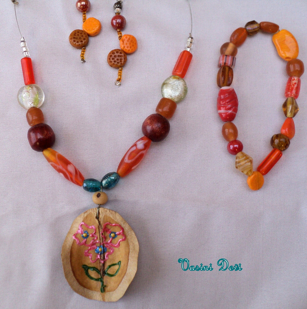Wisdom Leave Necklace set