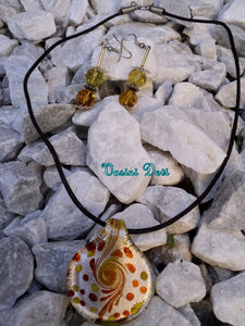 Murano Glass Yellow Necklace Set