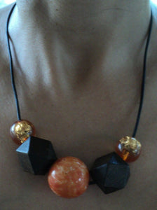 Wooden Necklace with large beads