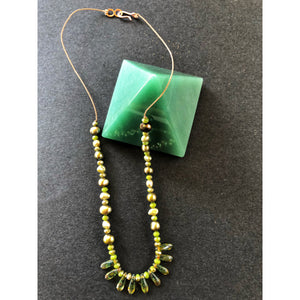 Green Illusion necklace