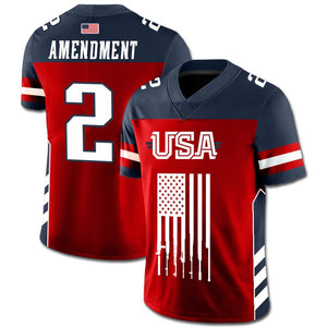 Team USA 2nd Amendment Football Jersey v2 - Country America