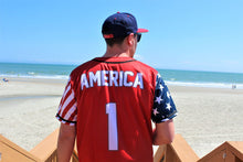 Load image into Gallery viewer, Red America #1 Baseball Jersey